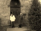 Outside the Church by JE Lillie